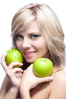 Free Young Girl With  Apples Stock Image - 16818691