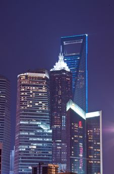 Free Shanghai Night - Bund Royalty Free Stock Photo - 16818995