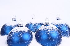 Free Christmas Balls And Snow Background Stock Photo - 16819080