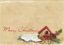 Free Vintage Invitation For Holiday With Cookies Stock Photos - 16819263
