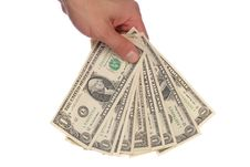 Free Hand Holding American Dollars Royalty Free Stock Image - 16819286