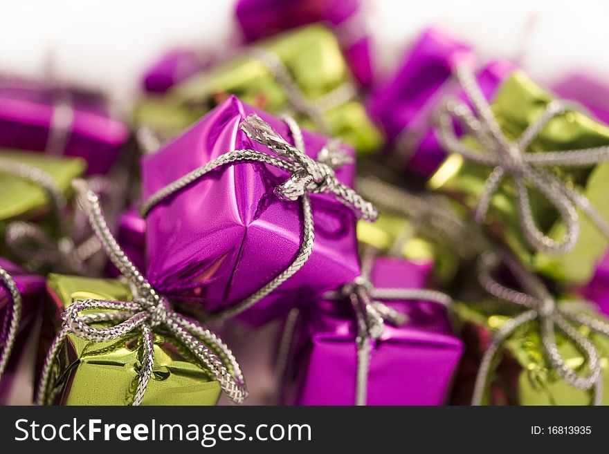 Purple and green parcel background