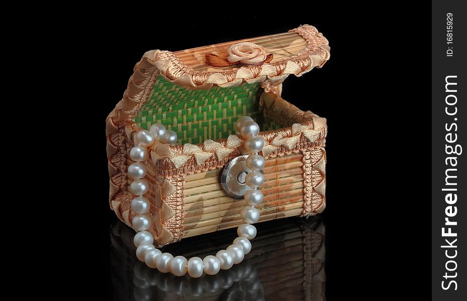 Jewelery box with necklaces
