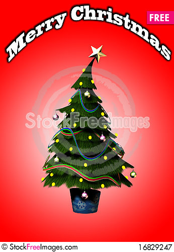 Free Christmas Tree Royalty Free Stock Photography - 16829247