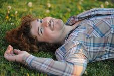 Free Happy Man In The Grass Royalty Free Stock Photos - 16820568