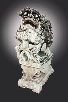 Chinese Lion Stone Stock Image