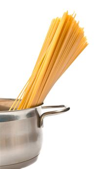 Spaghetti In Pan Royalty Free Stock Photo