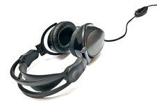 Free Black Headphones Royalty Free Stock Photography - 16821277
