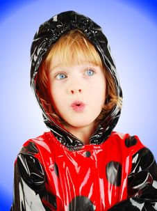 Free Child In Rain Coat. Royalty Free Stock Image - 16821356