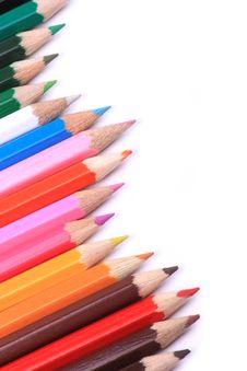 Free Line Of Coloured Pencils Royalty Free Stock Images - 16821669