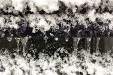 Free Icicles With Snow And Ice Stock Photography - 16821882