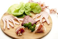 Free Mixed Sausage Plate Stock Photography - 16821942