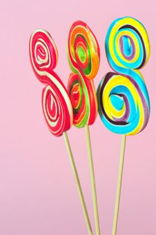Free Sweet Colorful Lollipops Royalty Free Stock Photos - 16821988