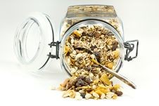 Free Muesli Breakfast With Spoon Stock Photography - 16822552