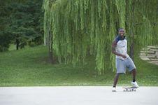 Free Beginner With Skateboard Stock Photo - 16822910