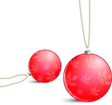 Free Christmas Red Balls Royalty Free Stock Photo - 16823085