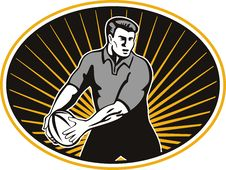 Free Rugby Player Passing Ball Stock Photography - 16823202