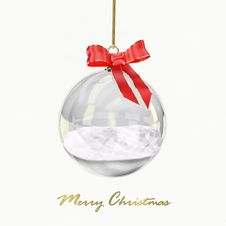 Free Christmas Glass Ball Royalty Free Stock Images - 16823299