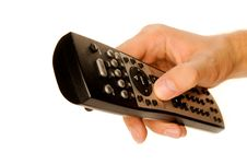 Free Human Hand On Remote Stock Image - 16823601
