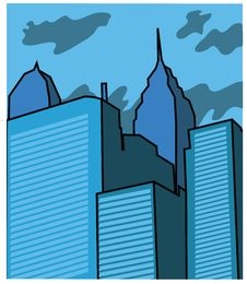 Free Vector Buildings Stock Image - 16827101