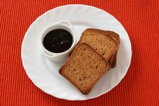 Free Toasts With Jam Stock Photo - 16827340