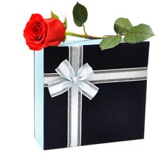 Free Red Rose And Gift Stock Photo - 16827450