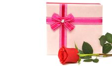 Free Red Rose And Gift Stock Images - 16827484