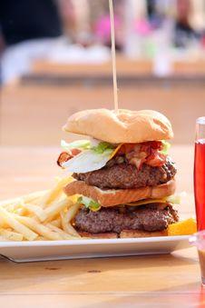 Huge Size Double Cheeseburger