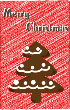 Free Christmas Cookie Tree Royalty Free Stock Photography - 16828297