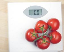 Free Tomatoes And Weight Scale Royalty Free Stock Images - 16829269