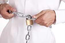 Free Man Holding Chain Stock Photo - 16829280