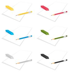 Free Pencil And Elastic Band2 Stock Photos - 16829653