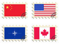 Free The Post Stamps. Flags Stock Photo - 16831410