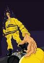 Free Fireman Reaching For Hose Stock Image - 16832871