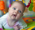 Free Beautiful Baby With Toys Royalty Free Stock Images - 16833579