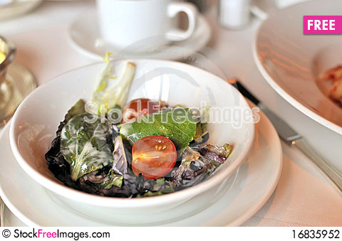 Free Vegetarian Salad Stock Photography - 16835952