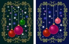 Free Vintage Postcards For Christmas Royalty Free Stock Photo - 16830845