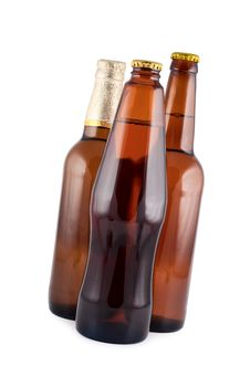 Beer In Bottles. Stock Photo