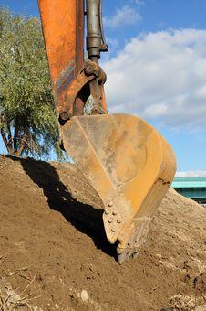 Free Excavator Bucket. Royalty Free Stock Photos - 16831128