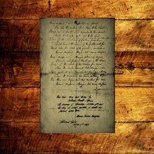 Free Textural Old Letter Stock Photography - 16831192