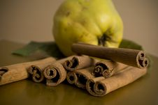 Cinnamon And Apples Stock Photo