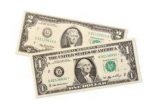 Free Dollar Notes On White Background Stock Photo - 16831570