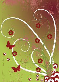 Free Vector Floral Background - Nature Design Stock Photos - 16832033
