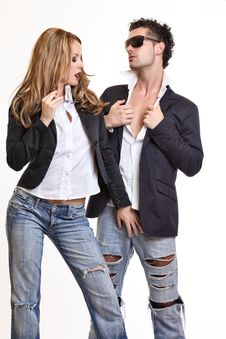 Free Passionate Couple Flirting Stock Photography - 16832162