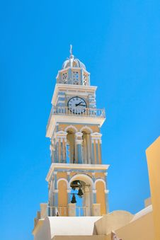Free Clock Tower In Santorini Stock Photography - 16832522