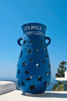 Free Ceramic Vase In Santorini Stock Image - 16832541