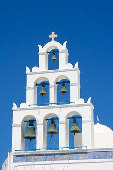 Free White Chapel In Santorini Stock Photos - 16832693