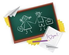 School Love Royalty Free Stock Images