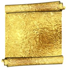 Free Gold Roll Royalty Free Stock Photography - 16833197