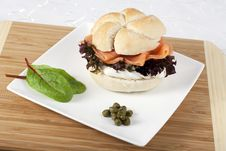Free Smoked Salmon On Roll Stock Image - 16833331